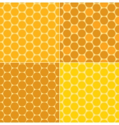 Seamless patterns - honeycombs vector