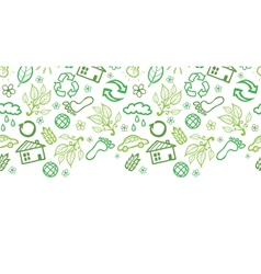 Ecology symbols horizontal seamless pattern vector