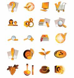 set of 20 web icons vector image