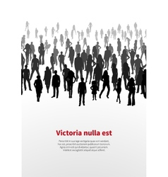 Large crowd of people background vector