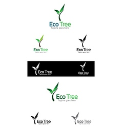 Tree logo templates vector