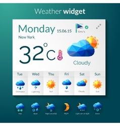 Weather polygonal widget vector