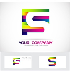 Letter s colors logo vector