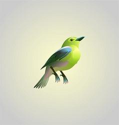 yellow birdy vector image