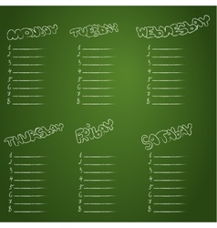 School schedule school timetable vector
