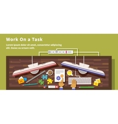 Work on task design flat style vector