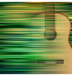 Abstract green blur background with acoustic vector