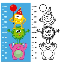Monsters meter wall vector