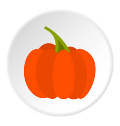 Autumn pumpkin icon circle vector