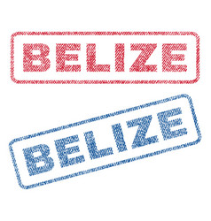 Belize textile stamps vector