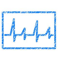 Cardiogram grunge icon vector