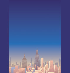 cityscape vertical 3 vector image vector image