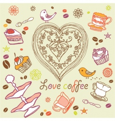 coffee background vector image