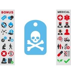 Death Sticker Icon vector image vector image