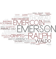 Emercoin word cloud concept vector