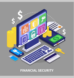financial security vector image vector image