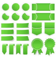 Green Price Tags Stickers Banners vector image vector image