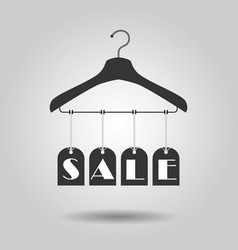 Hanging sale signage clothing hanger banners icon vector