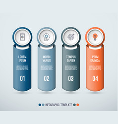 infographic concept of 4 vertical elements vector image