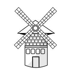 Isolated windmill tower vector