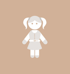 Little girl kid child cute girl vector