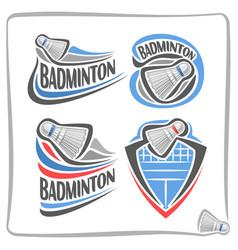 Logo badminton shuttlecock vector