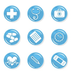 Medical pills icon set vector