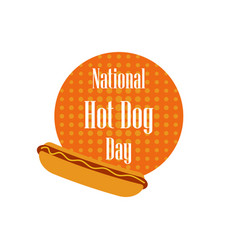 National day hot dog fast food on a dotted vector