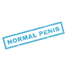 Normal penis rubber stamp vector