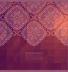 Ornate border background vector