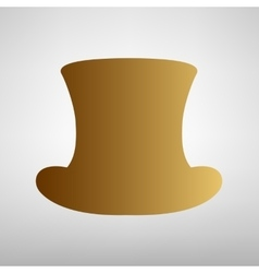 Top hat sign flat style icon vector