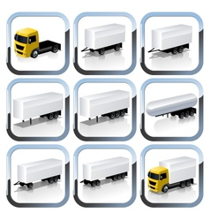 Truck Trailaers Icons Set vector image vector image