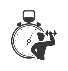 Chronometer weight lifting healthy lifestyle vector