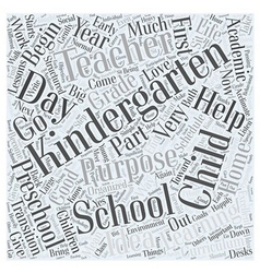 The purpose of kindergarten word cloud concept vector