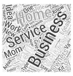 Start your own Welcome Service Word Cloud Concept vector image