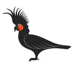 Parrot Cockatoo Black vector image