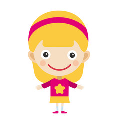 Girl portrait fun happy young expression cute vector