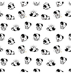 Seamless pattern with cute puppy dog vector