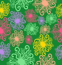 Seamless pattern of imaginative snowflakes vector