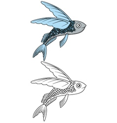 Flying fish for you design vector