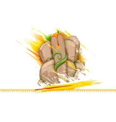 Lord ganesha made of rock for ganesh chaturthi vector