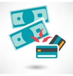 Pay by credit card icon vector