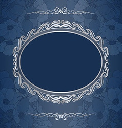 Decorative background with frame vector