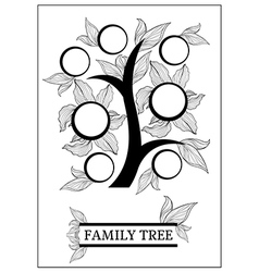 family tree 2 vector image