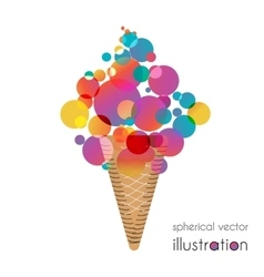 Ice cream with colored balls vector image