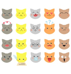 Set of emotions cat vector image
