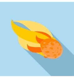 Comet icon flat style vector