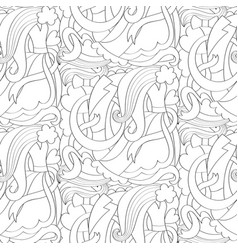 Abstract wedding seamless pattern vector