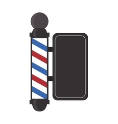 Barber shop emblem icon vector