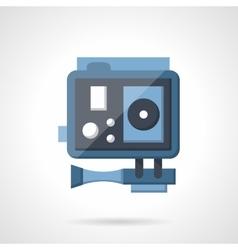 Blue action camera flat vetor icon vector